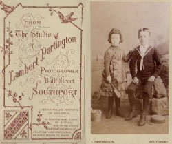Victorian CDV, Boy and Girl